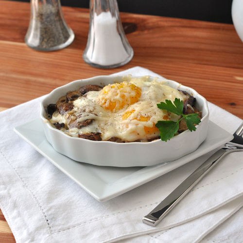 Baked Eggs with Mushrooms and Parmesan – The Way to His Heart