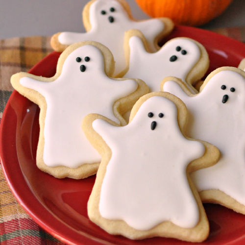Ghost Sugar Cookies ghost shaped sugar cookies for halloween recipe ...
