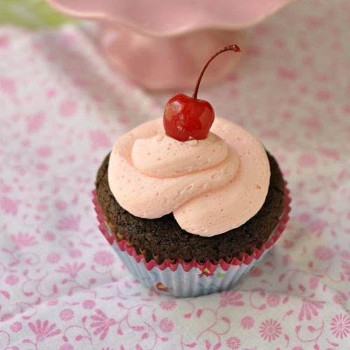 Maraschino Cherry Frosting  ~ The Way to His Heart