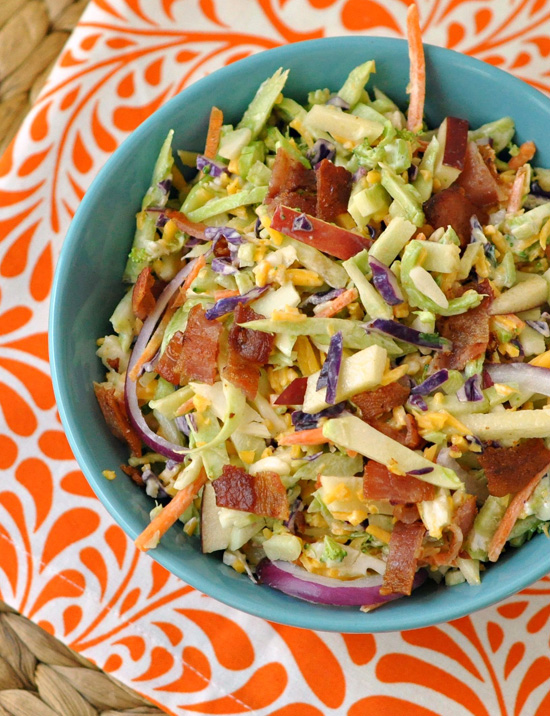 Bacon, Apple & Cheddar Broccoli Slaw ~ The Way to His Heart