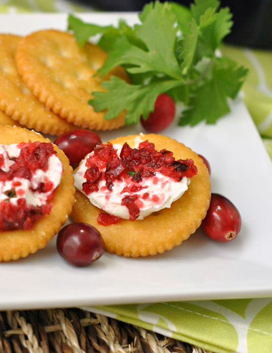 Cranberry Cream Cheese Dip ~ The Way to His Heart ~ This beautiful dip is sure to impress everyone. It's sweet, tart, and packs only a slight heat. It's super easy to make and looks gorgeous and festive