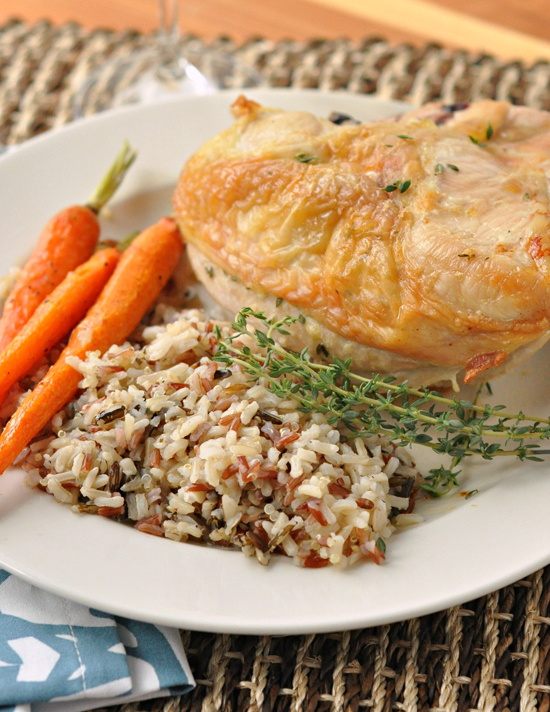 Thyme & Garlic Roast Chicken ~ The Way to His Heart