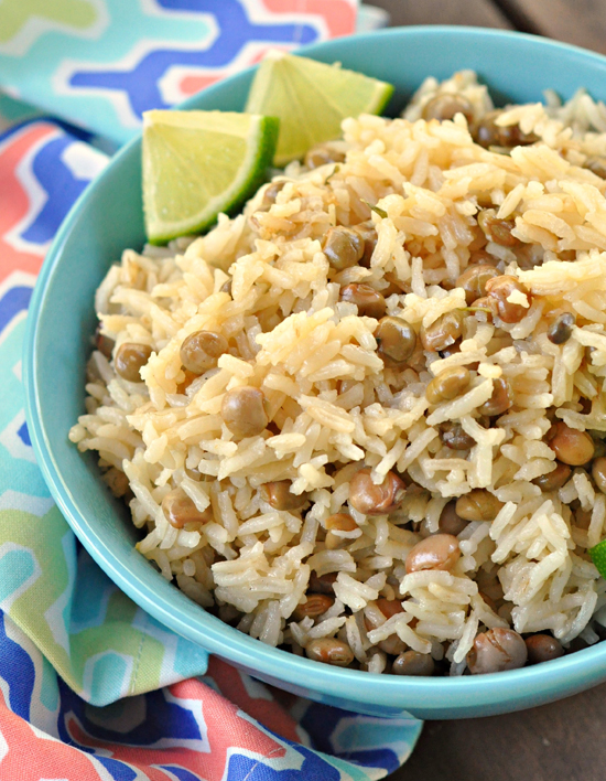 Rice & Pigeon Peas ~ A classic Barbados side dish ~ The Way to His Heart